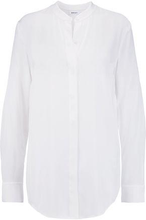 DKNY Silk-blend blouse