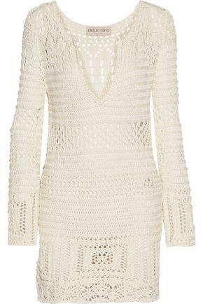 EMILIO PUCCI Open-knit cotton coverup