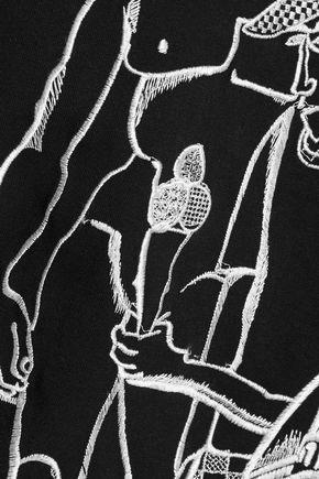 EMILIO PUCCI Metallic embroidered cotton T-shirt