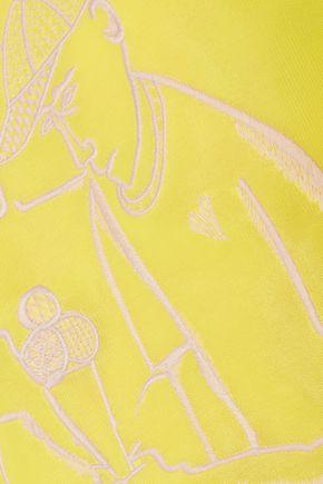 EMILIO PUCCI Neon embroidered scuba top