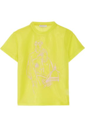 EMILIO PUCCI Neon embroidered scuba top