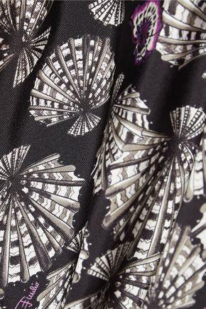 EMILIO PUCCI Printed silk-satin twill top