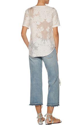 EQUIPMENT FEMME Riley fil coupé cotton and silk-blend voile top