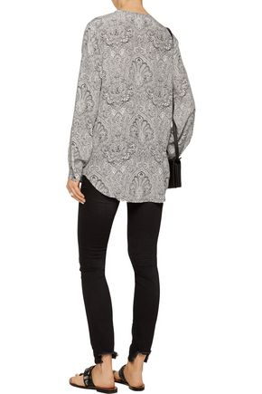 EQUIPMENT FEMME Faye printed washed-silk shirt