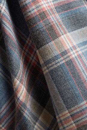 IRO Dally plaid cotton and wool-blend shirt