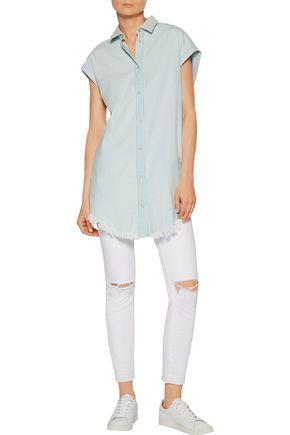 IRO Lanie cotton-chambray top