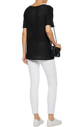 IRO Trixie striped linen T-shirt