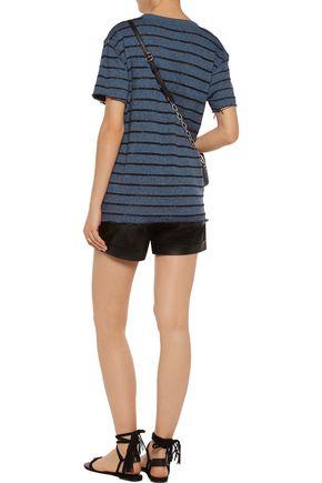 IRO Striped cotton-blend T-shirt