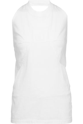 RICK OWENS Dark Shadow cotton halterneck top