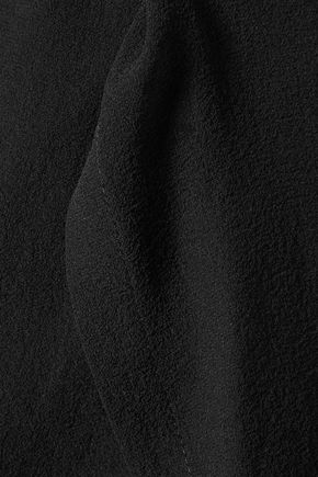 RICK OWENS Wrap-effect silk-chiffon halterneck top
