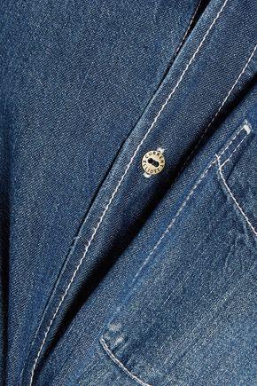 CURRENT/ELLIOTT The Prep School frayed distressed denim shirt