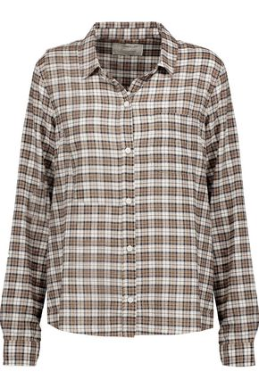 CURRENT/ELLIOTT The Slim Boy checked broadcloth shirt