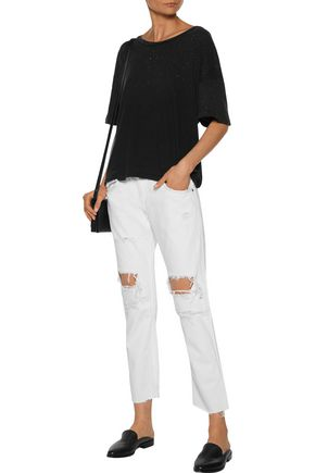 CURRENT/ELLIOTT The Roadie cotton-jersey T-shirt