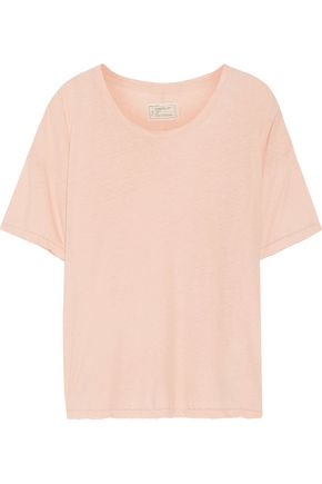 CURRENT/ELLIOTT The Roadie distressed linen and cotton-blend T-shirt