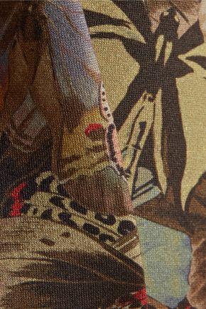 VALENTINO Printed cotton-scuba top