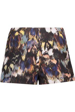 VALENTINO Cotton and silk-blend jacquard shorts