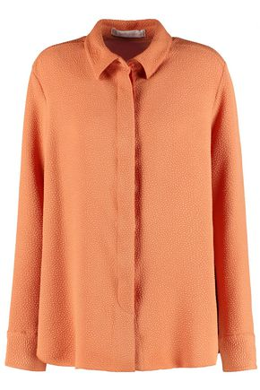 SEE BY CHLOÉ Pleated cloqué shirt