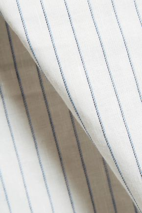 TOTÊME Cairo striped cotton and linen-blend shirt