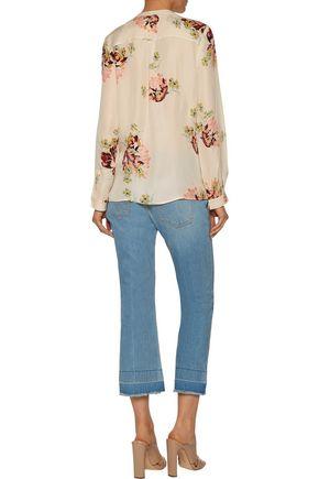JOIE Devitri floral-print silk crepe de chine blouse