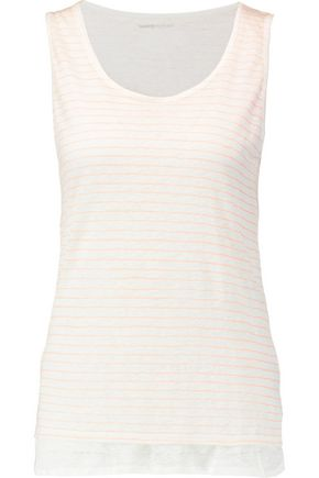 MAJESTIC Striped linen tank