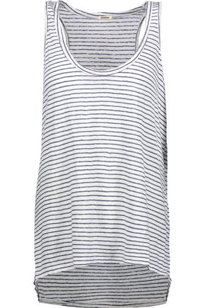MONROW Striped linen tank