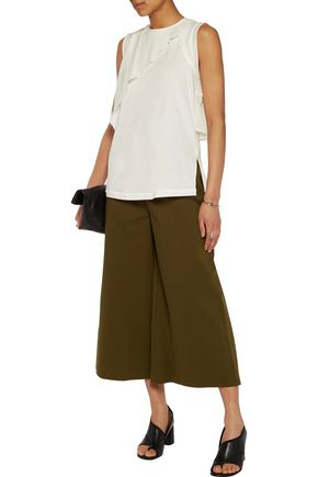 3.1 PHILLIP LIM Layered cotton and silk top