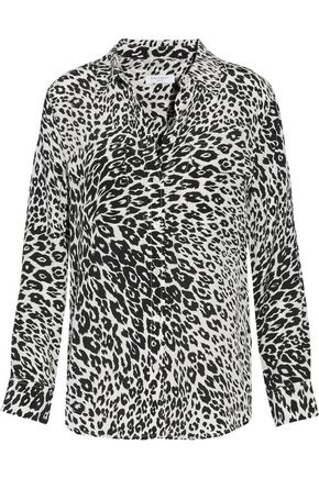 6623fdd0727dca EQUIPMENT Slim Signature leopard-print washed-silk shirt ...