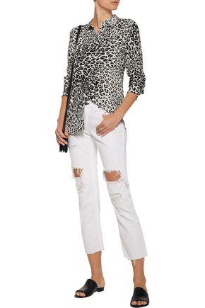 EQUIPMENT Slim Signature leopard-print washed-silk shirt