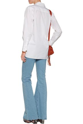 SEE BY CHLOÉ Appliquéd mesh cotton shirt