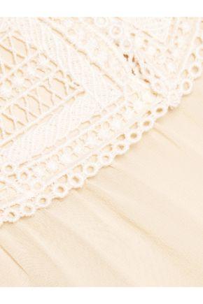 SEE BY CHLOÉ Crochet-trimmed chiffon top