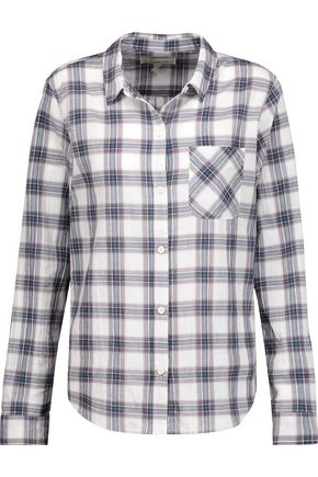 CURRENT/ELLIOTT The Slim Boy plaid cotton-blend shirt