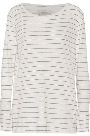 CURRENT/ELLIOTT Striped cotton top