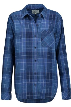 CURRENT/ELLIOTT The Modern plaid cotton shirt