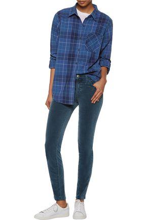 CURRENT/ELLIOTT The Modern plaid cotton shirt