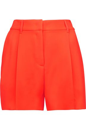 WOMAN NEON CREPE SHORTS PAPAYA