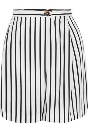 McQ Alexander McQueen Wrap-effect striped twill shorts