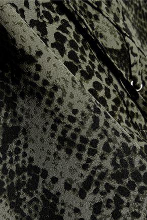 EQUIPMENT Knox lace-up printed washed-silk shirt