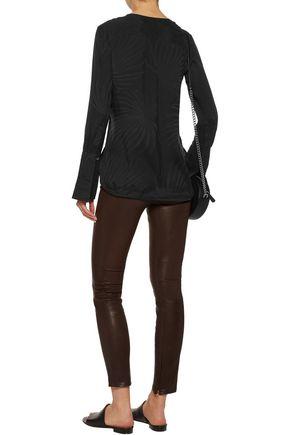 EQUIPMENT Kenley washed silk-jacquard blouse
