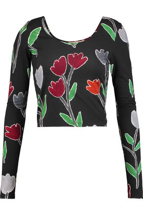 ALICE + OLIVIA Camden printed stretch-jersey top