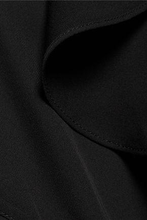 THEORY Draped and ruffled silk-twill top