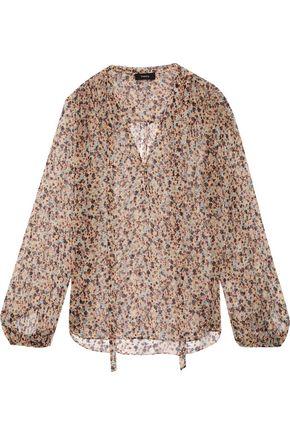 THEORY Bernetta floral-print silk-chiffon blouse