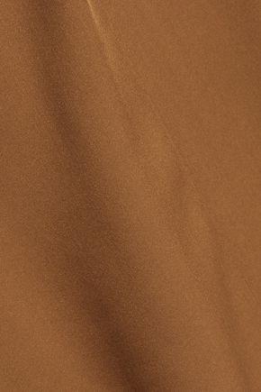 THEORY Malkara Modern ruched silk-satin top