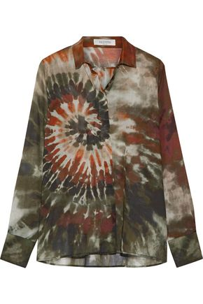 VALENTINO GARAVANI Printed cotton-broadcloth shirt
