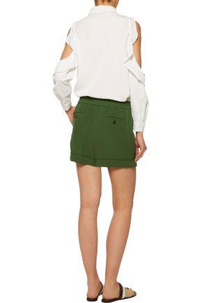 VALENTINO Silk-crepe shorts