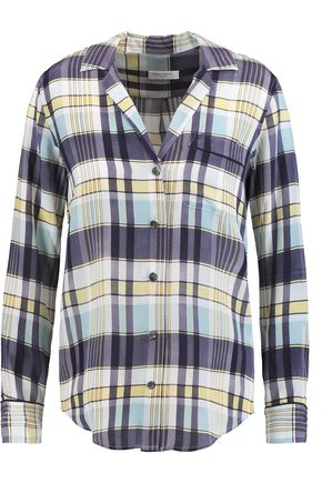 EQUIPMENT Keira checked washed-silk shirt