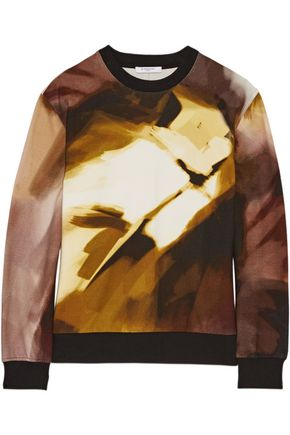 GIVENCHY Printed cotton-blend sweatshirt