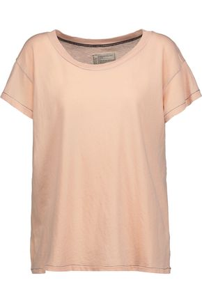 CURRENT/ELLIOTT Distressed cotton-jersey T-shirt