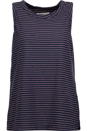 CURRENT/ELLIOTT The Muscle striped cotton-blend jersey tank