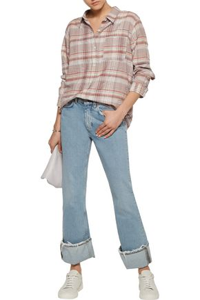 CURRENT/ELLIOTT The Modern Prep School checked cotton-blend shirt