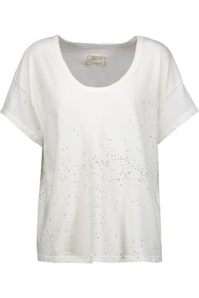 CURRENT/ELLIOTT Printed cotton-jersey T-shirt